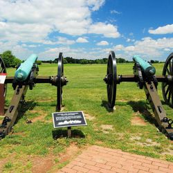 Canons at Antietam National Battlefield in Maryland, and it's known as the bloodiest one day battle in American history. Photo taken in June 2014.
