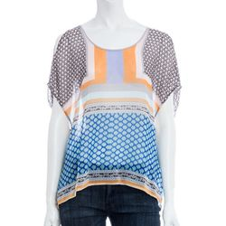 "<b>Clover Canyon</b> Chainmail Print Chiffon Top, <a href=""http://www.scoopnyc.com/women/blouses-tops-2/chainmail-print-chiffon-top"">$198</a> at Scoop NYC"