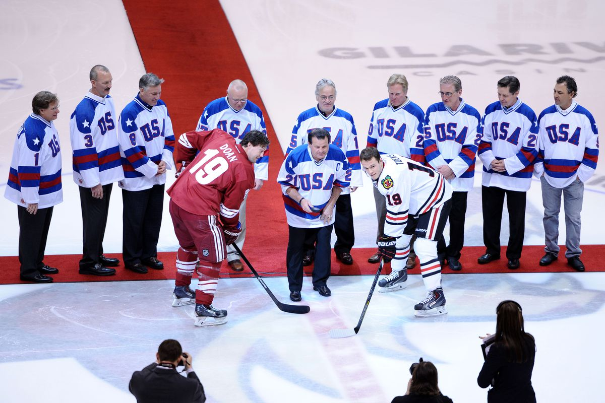 The 1980 team was honored before the Coyotes-Blackhawks game the other night...then Chicago lost. You can't get more American than that!
