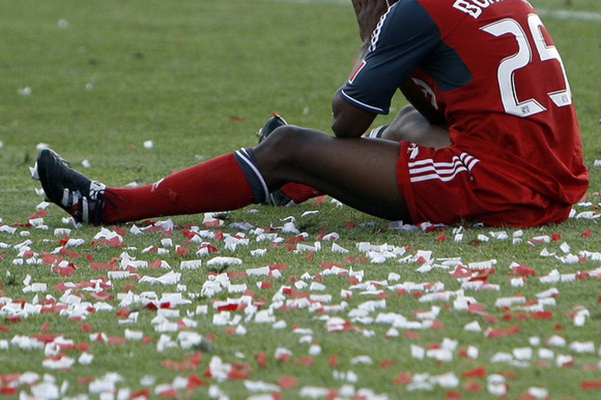 I'd forgotten all about when he slipped on the confetti.