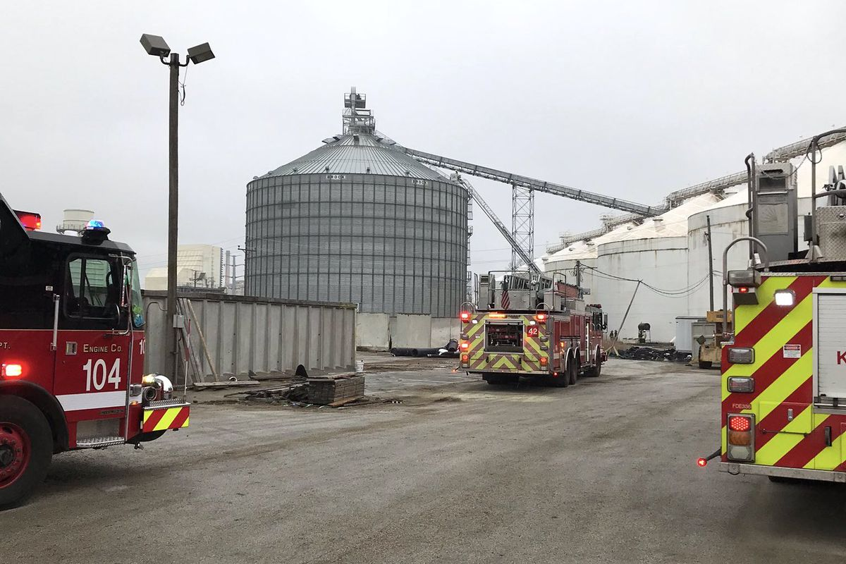 Firefighters responded to a silo fire March 31, 2020, at 11700 S. Torrence Ave.