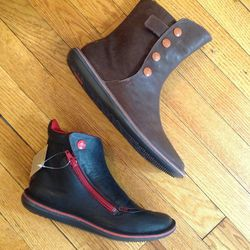 Camper boots regularly $210 and $185, reduced to $100 for sale