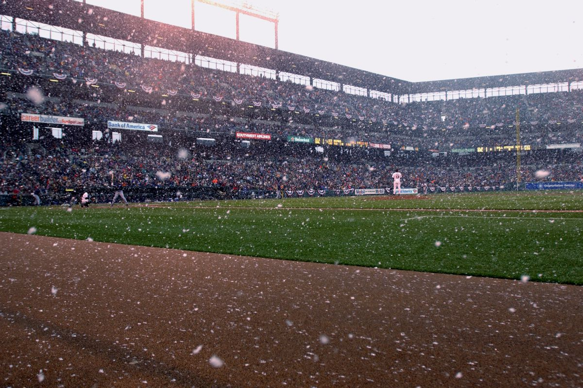 Snow on opening day