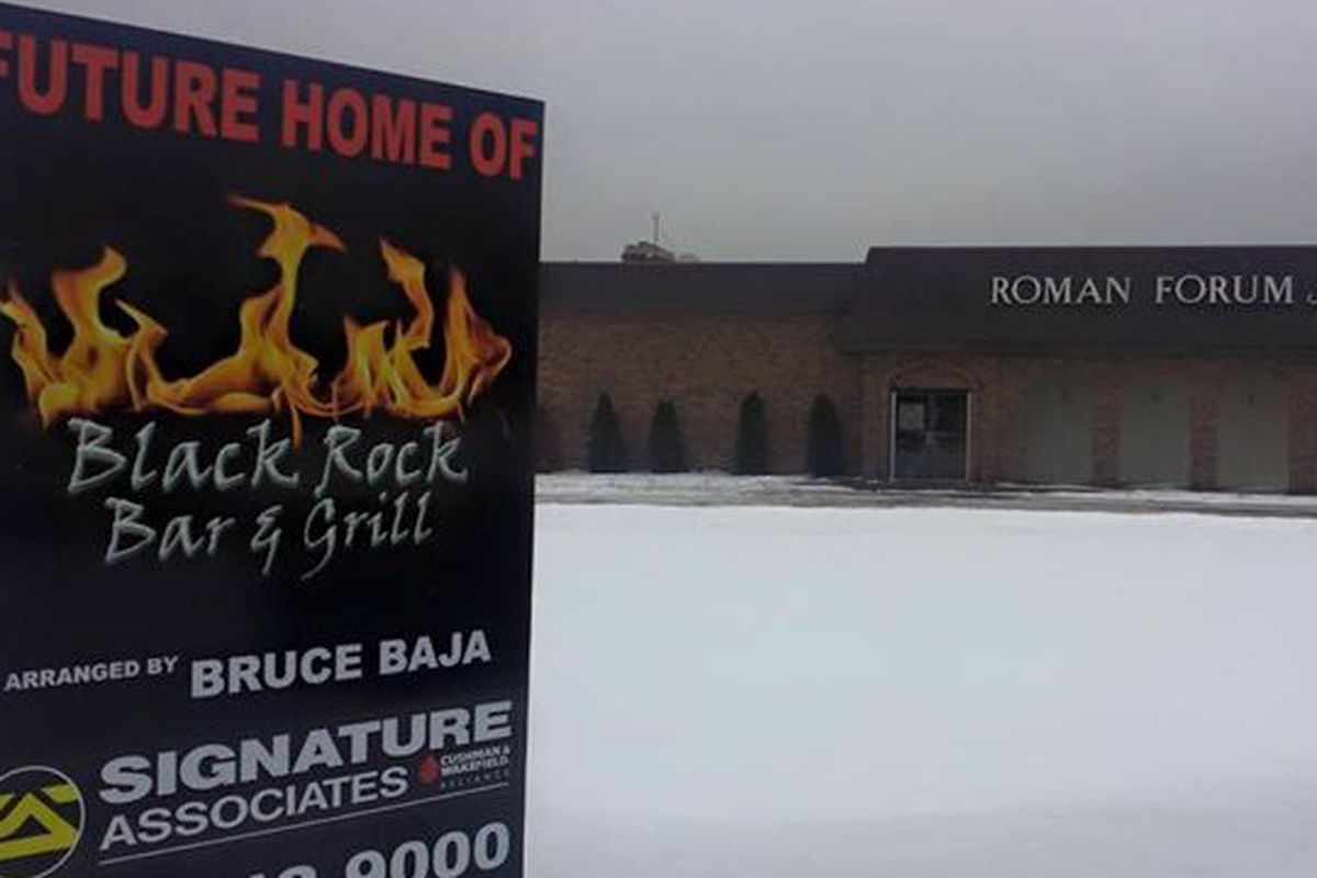 """Black Rock Bar & Grill is planning a """"massive renovation"""" of the former Roman Forum Restaurant in Canton."""