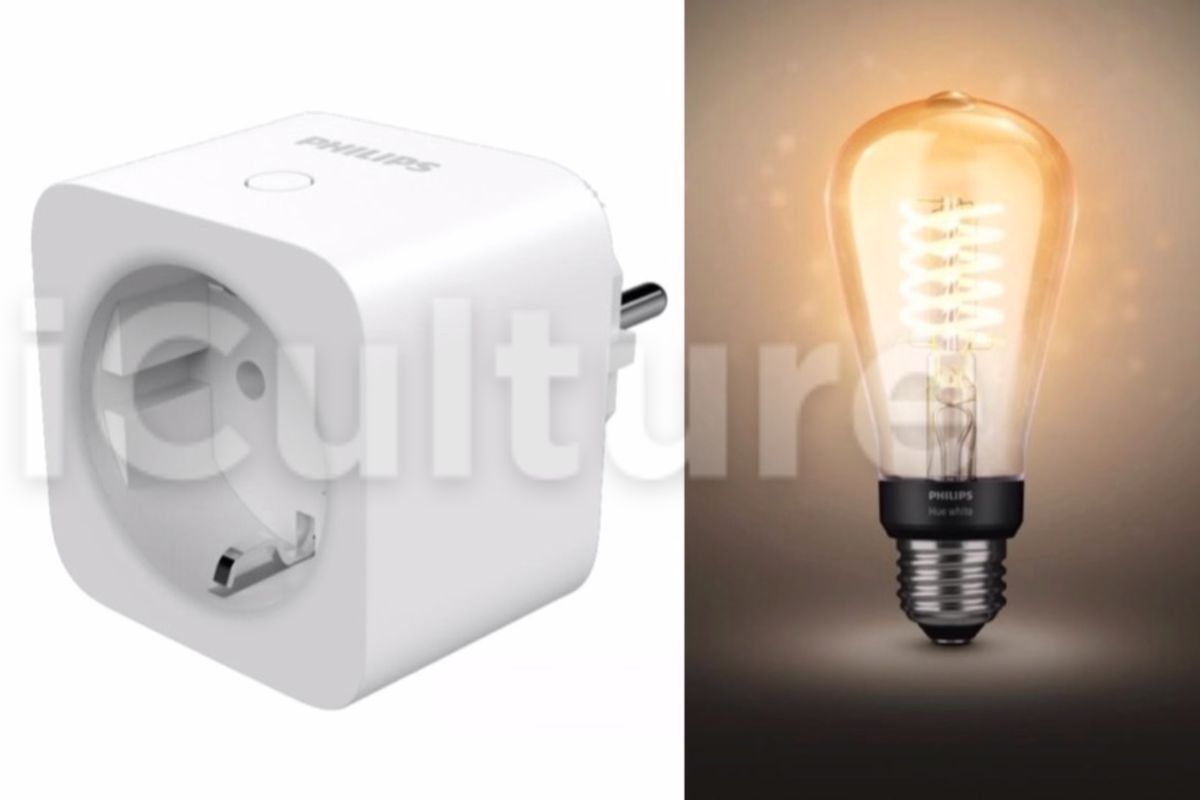 A Philips Hue Smart Plug And Exposed Filament Bulbs Ear