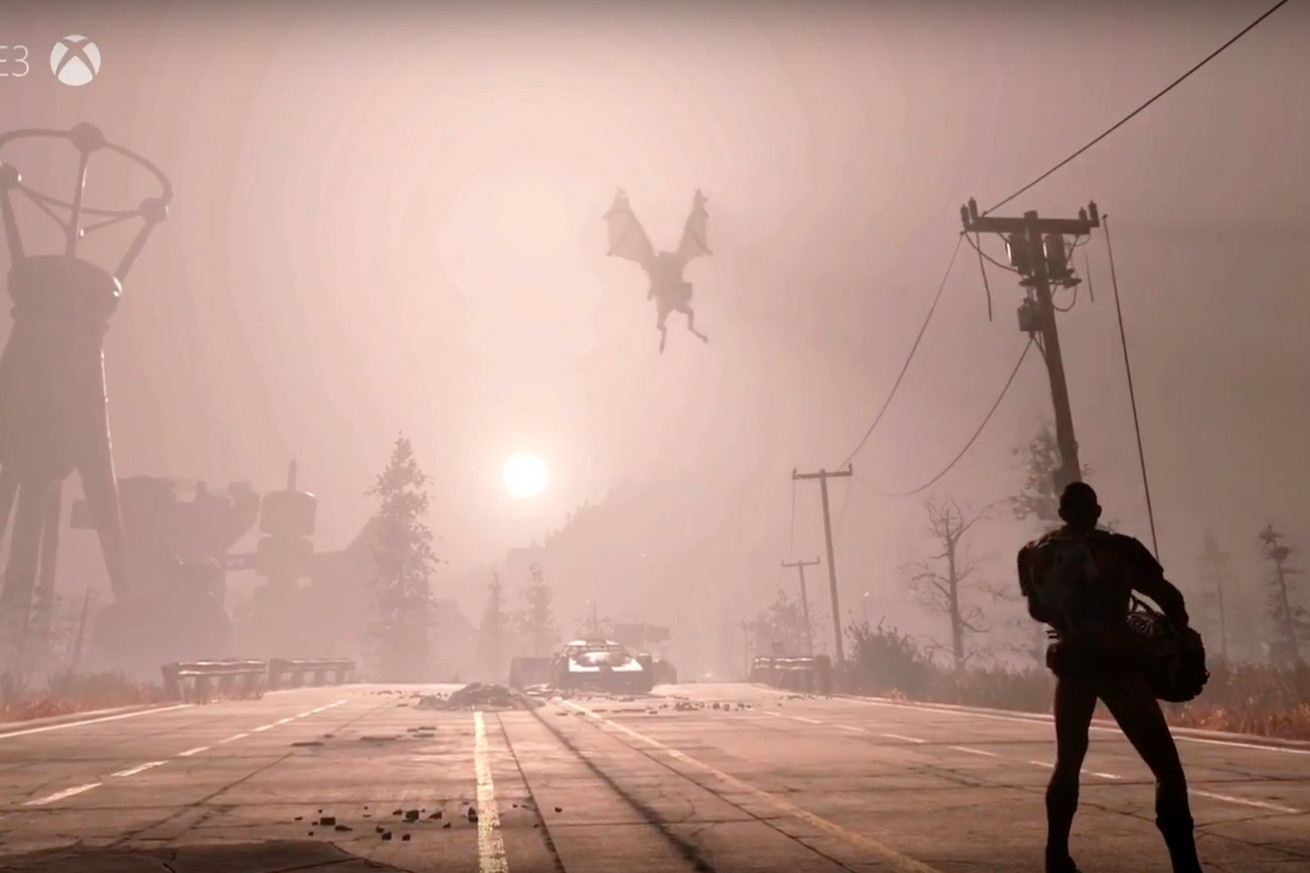 fallout 76 fans are freaking out about a flying monster