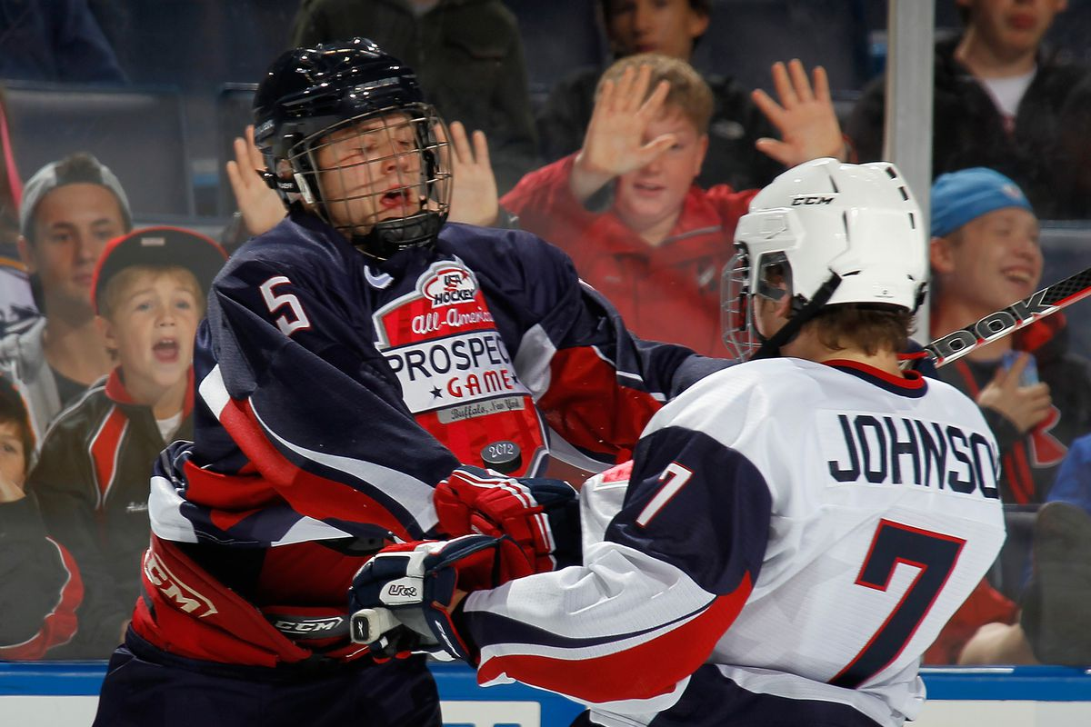 Michael Downing and Luke Johnson at this year's All-American Prospects Game