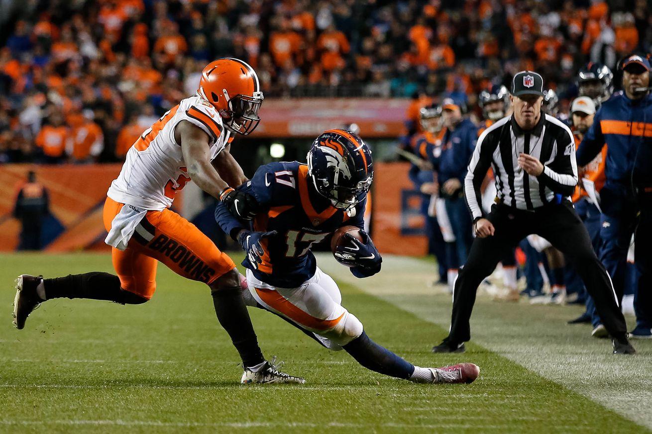 Broncos snap counts vs Cleveland