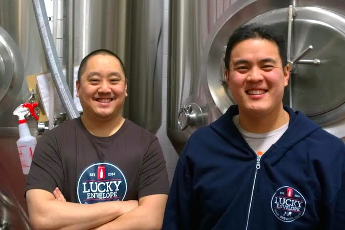 Raymond Kwan and Barry Chan of Ballard's new Lucky Envelope Brewery