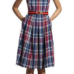 "Madras Check Dress, $175 at <a href=""http://us.gant.com/women/clothing/dresses-and-skirts"">GANT</a>."