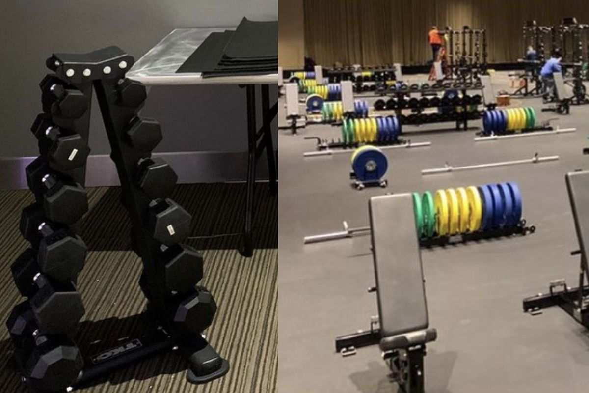 women's, men's weight rooms March Madness bubble