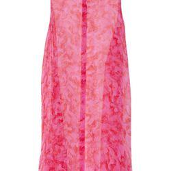 Alexander McQueen printed silk chiffon shirt dress, $247