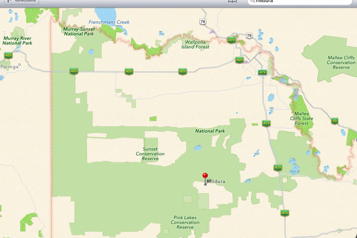 mildura apple maps