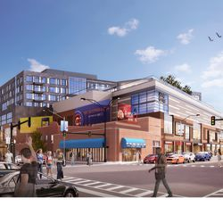 Rendering of Addison & Clark project looking southeast -