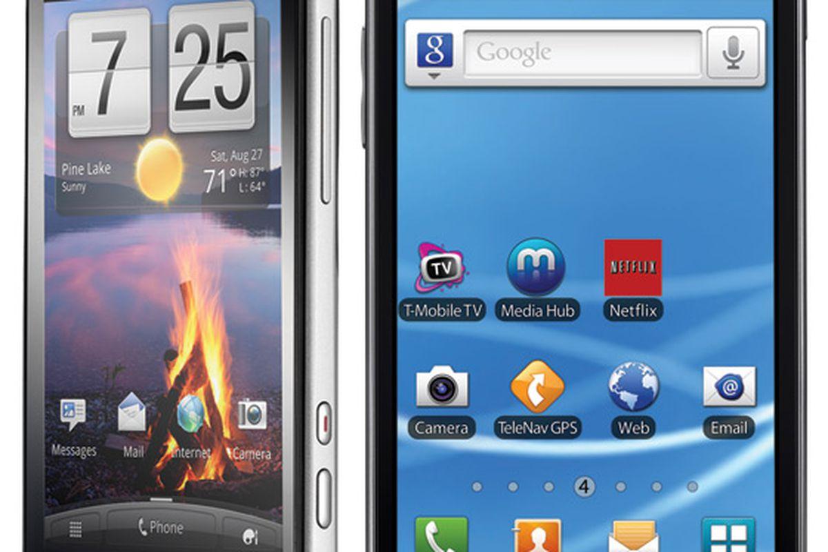 Amaze and Galaxy S II