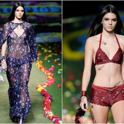 Two looks at Tommy Hilfiger. Photos: Getty.