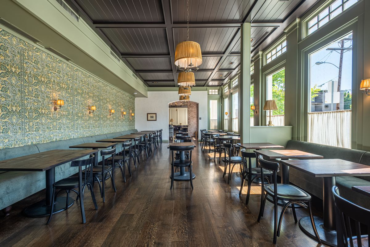 A.O.C. restaurant interior in Brentwood, California