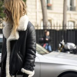 A fur-lined leather jacket.