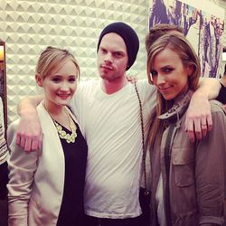 E! News producer Ashley Fultz with style star Joshua Nixon and fashion blogger Jacey Duprie.