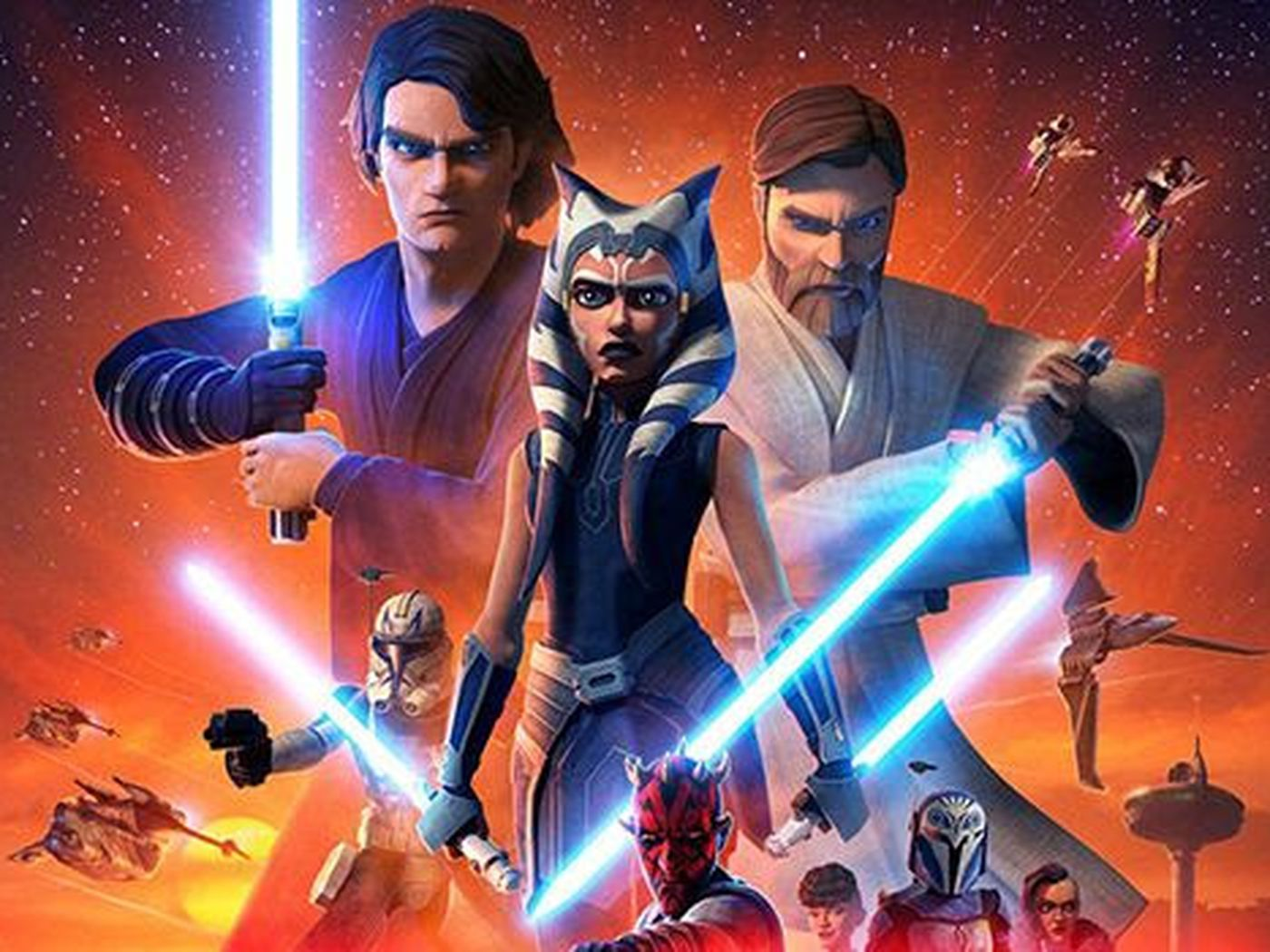 Star Wars The Clone Wars Series Finale Ahsoka S Escapes Darth Vader Appears Deseret News