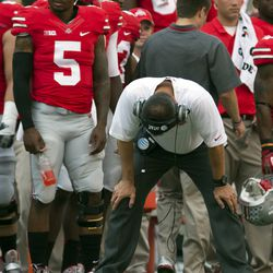 Urban Meyer not feeling the defense on a particular play.