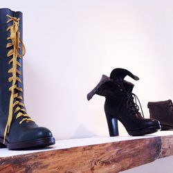 There are also boots -- lots and lots of boots