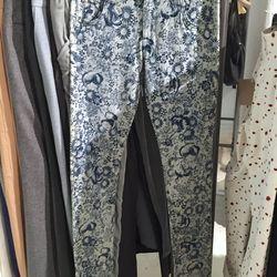 Floral straight leg pants, $75