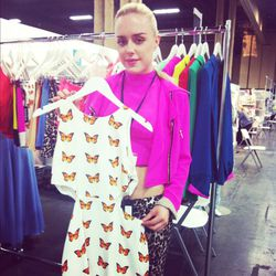 Love this adorable cut-out dress (held by one of the gorgeous Naven twins)