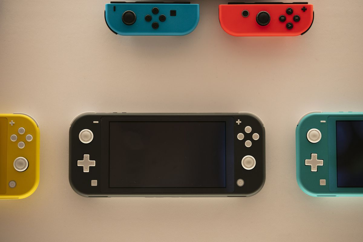Nintendo Switch game consoles are on display at Nintendo's official store in the Shibuya district of Tokyo, Thursday, Jan. 23, 2020