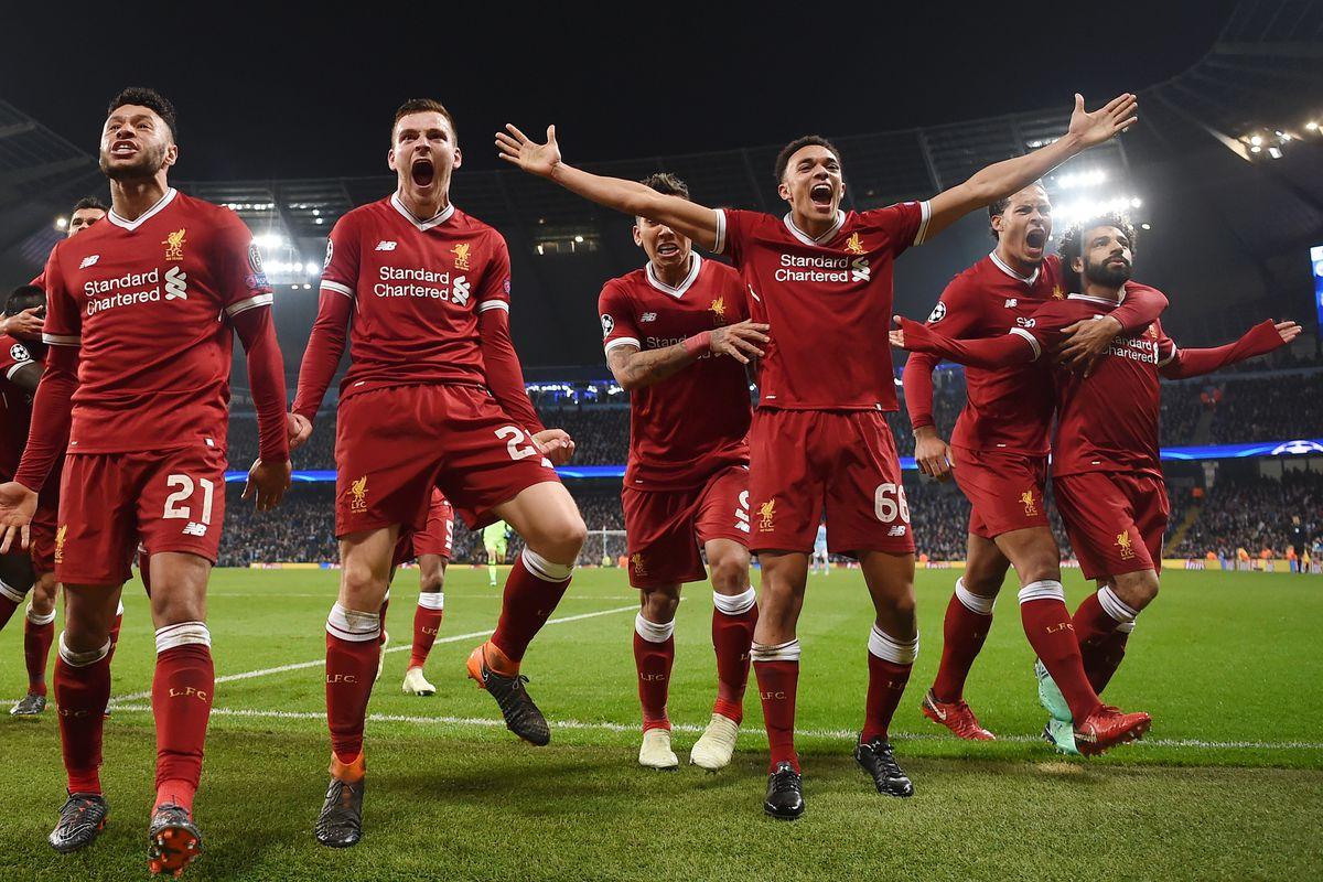 Team celebration - Liverpool - Premier League