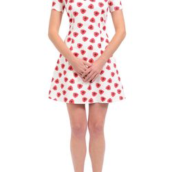 """<strong>Maggy Frances</strong> Jacqueline A-Line Dress in Poppy Dot, <a href=http://www.maggyfrances.com/top-level/new-arrivals/jacqueline-dress-1464.html"""">$350</a>"""