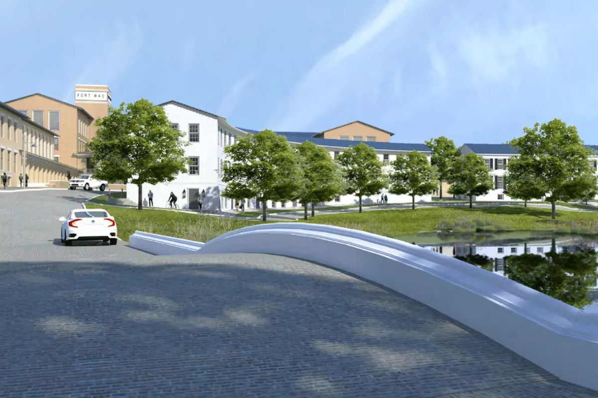 a rendering of part of the development