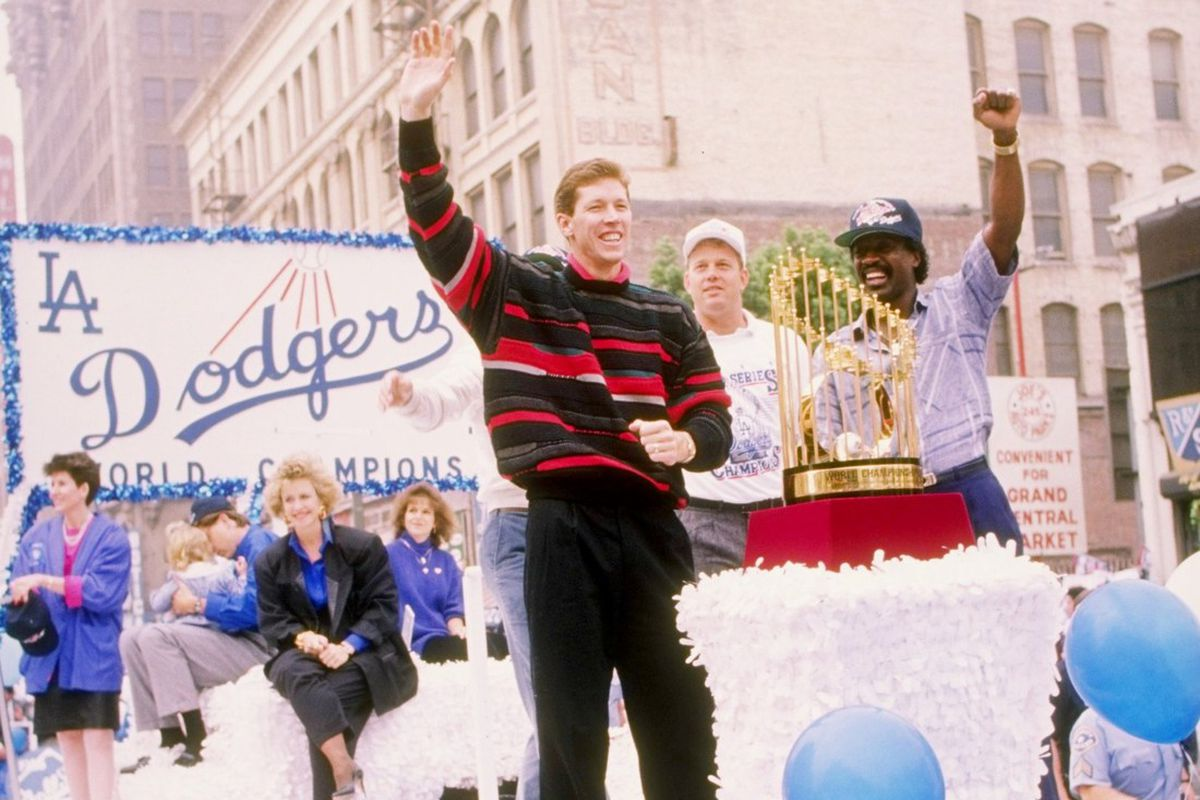 Orel Hershiser was so good in 1988 that he was exonerated for stealing this sweater from Bill Cosby.
