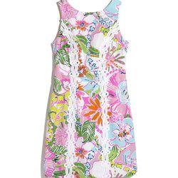 'Nosie Posey' shift dress, $38, 2-18, 14W-26W (online only)