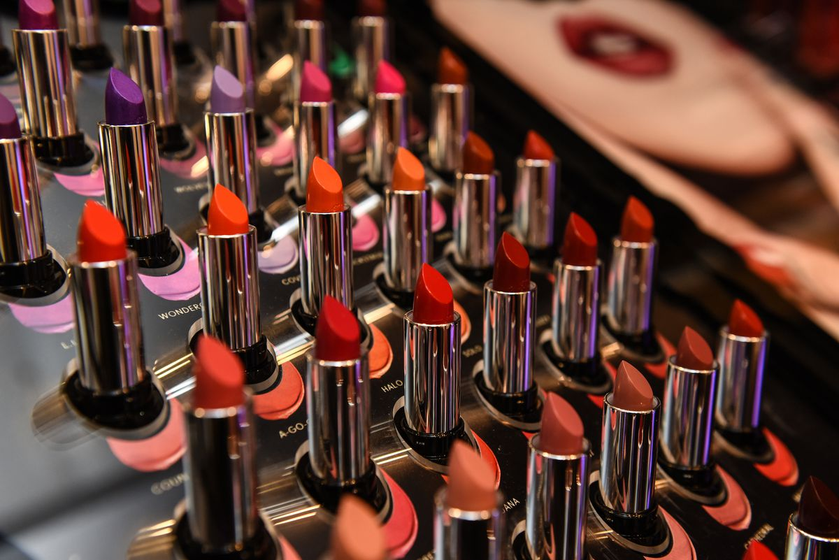 A display of Kat Von D lipsticks