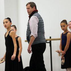 Adam Sklute Artistic Director of Ballet West works with dancers during Nutcracker rehearsals on Wednesday, Nov. 15, 2017.