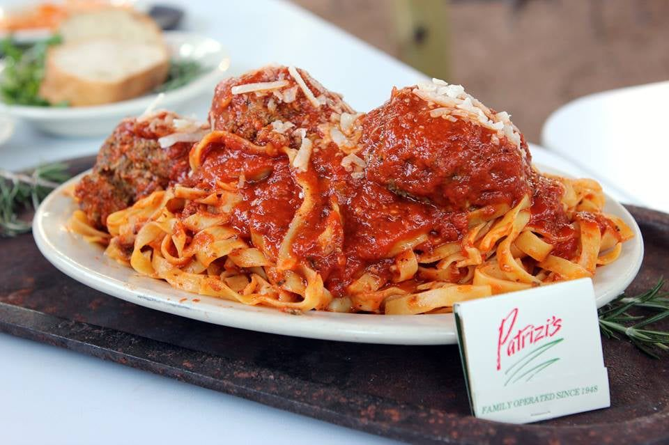 Patrizi's red sauce with meatballs