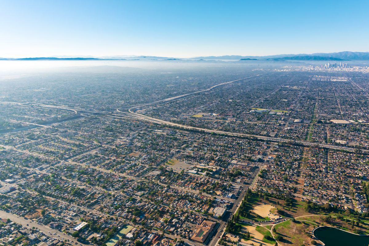 Aerial view of the LA sprawl.