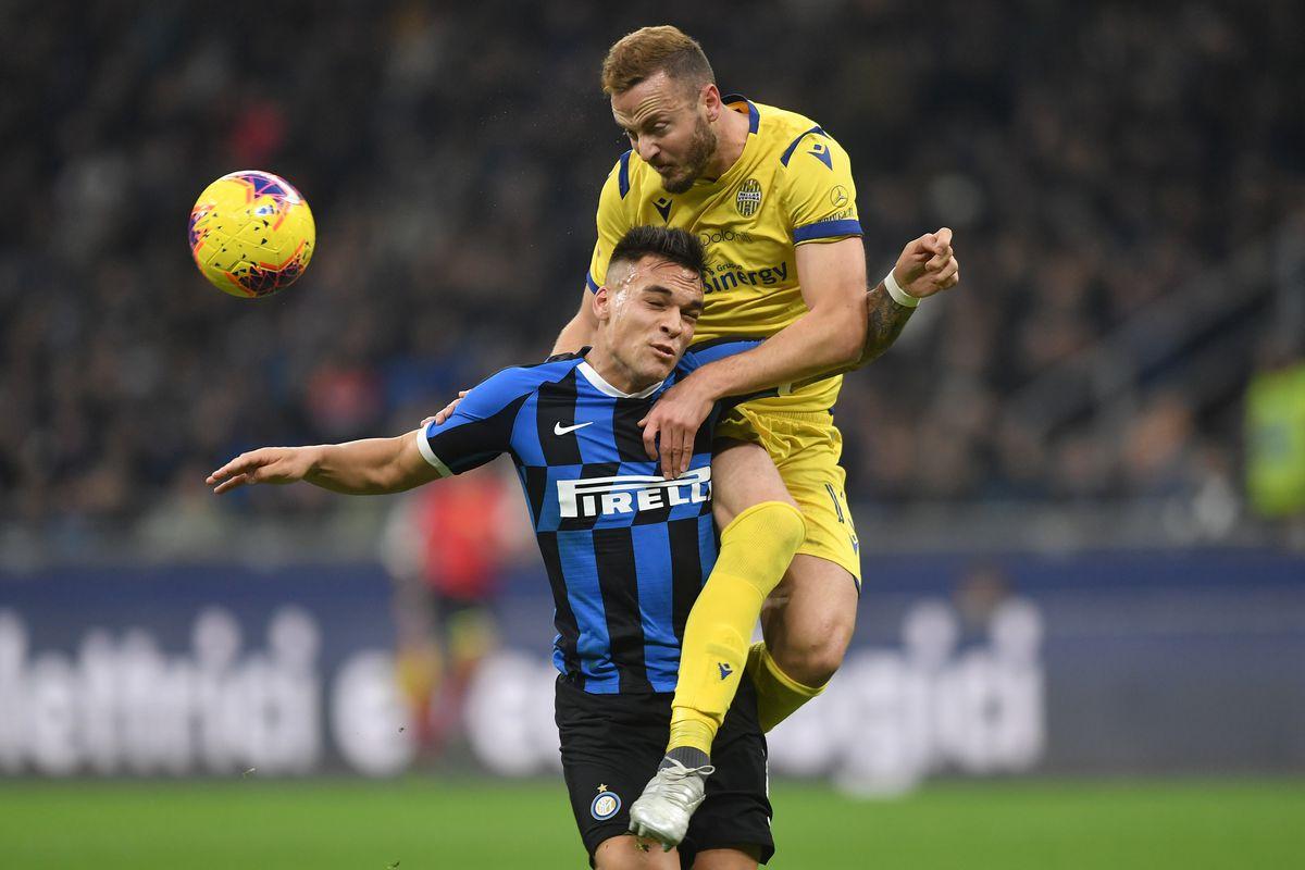 Lautaro Martinez of FC Internazionale and Amir Rrahmani of...
