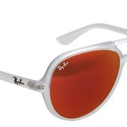 """<strong>Ray-Ban</strong> Transparent Aviator Frame Mirror Lens Sunglasses, <a href=""""http://www.barneys.com/Ray-Ban-Transparent-Aviator-Frame-Mirror-Lens-Sunglasses/00505028839200,default,pd.html?cgid=men&index=0"""">$150</a> at  Barneys"""