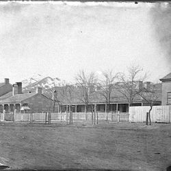 Photo of the home of William Henry Hooper on 100 South between State and Main streets was taken between 1860-1862.