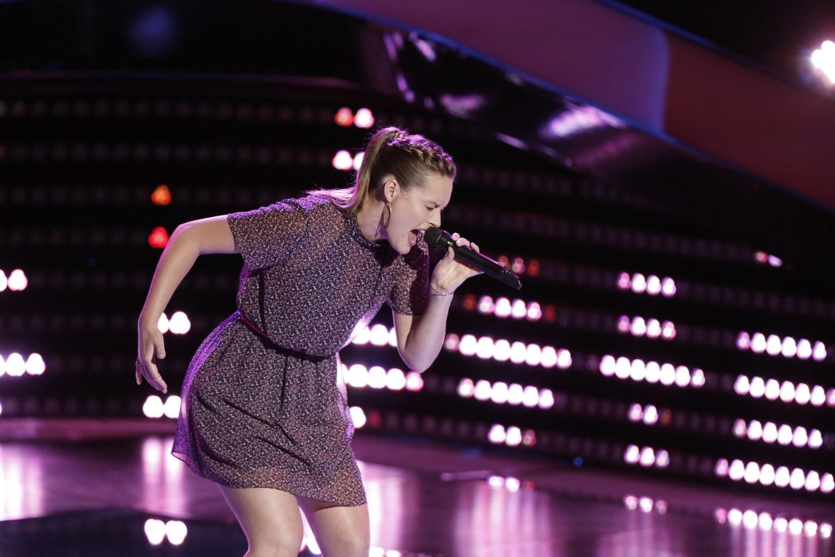 Hannah Huston auditions for NBC's The Voice