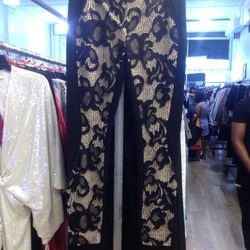 Lace-front pants, $60