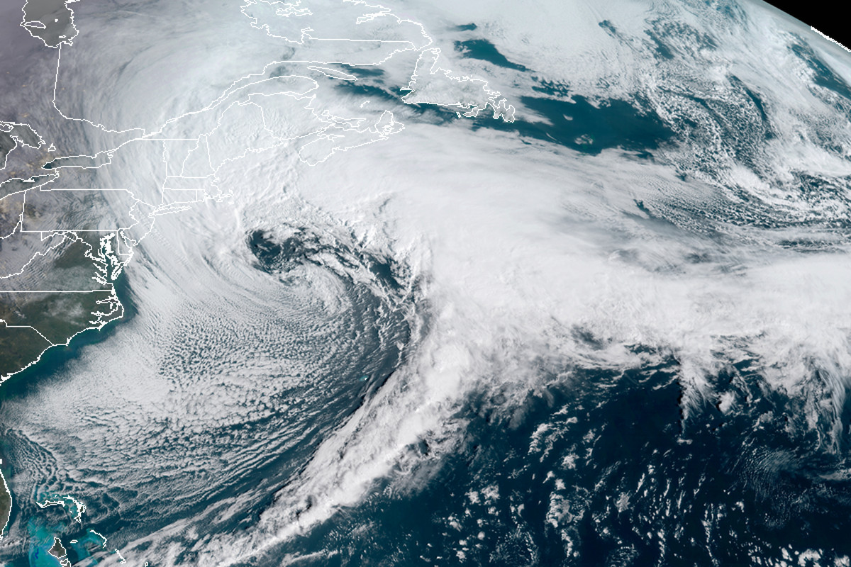 Winter storm skylar, as seen from space.