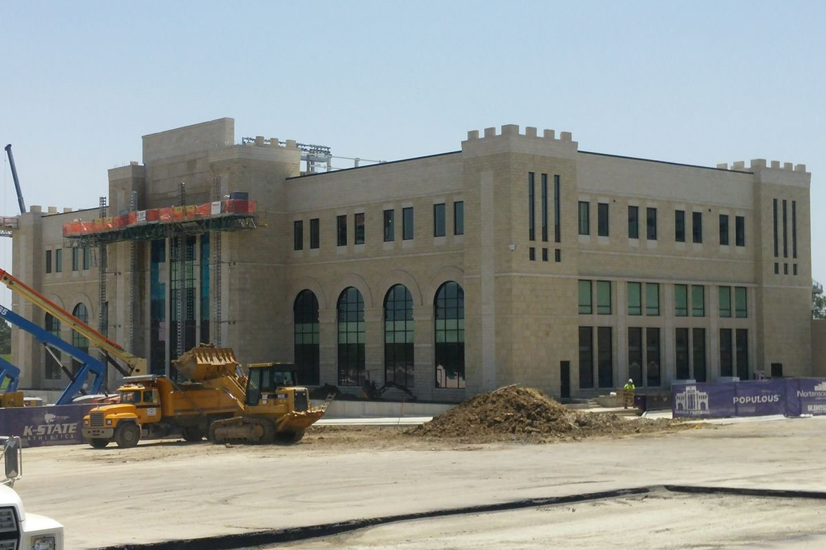 The new Vanier Sports Complex remains on schedule for the keys to be handed over to the football team in early August.