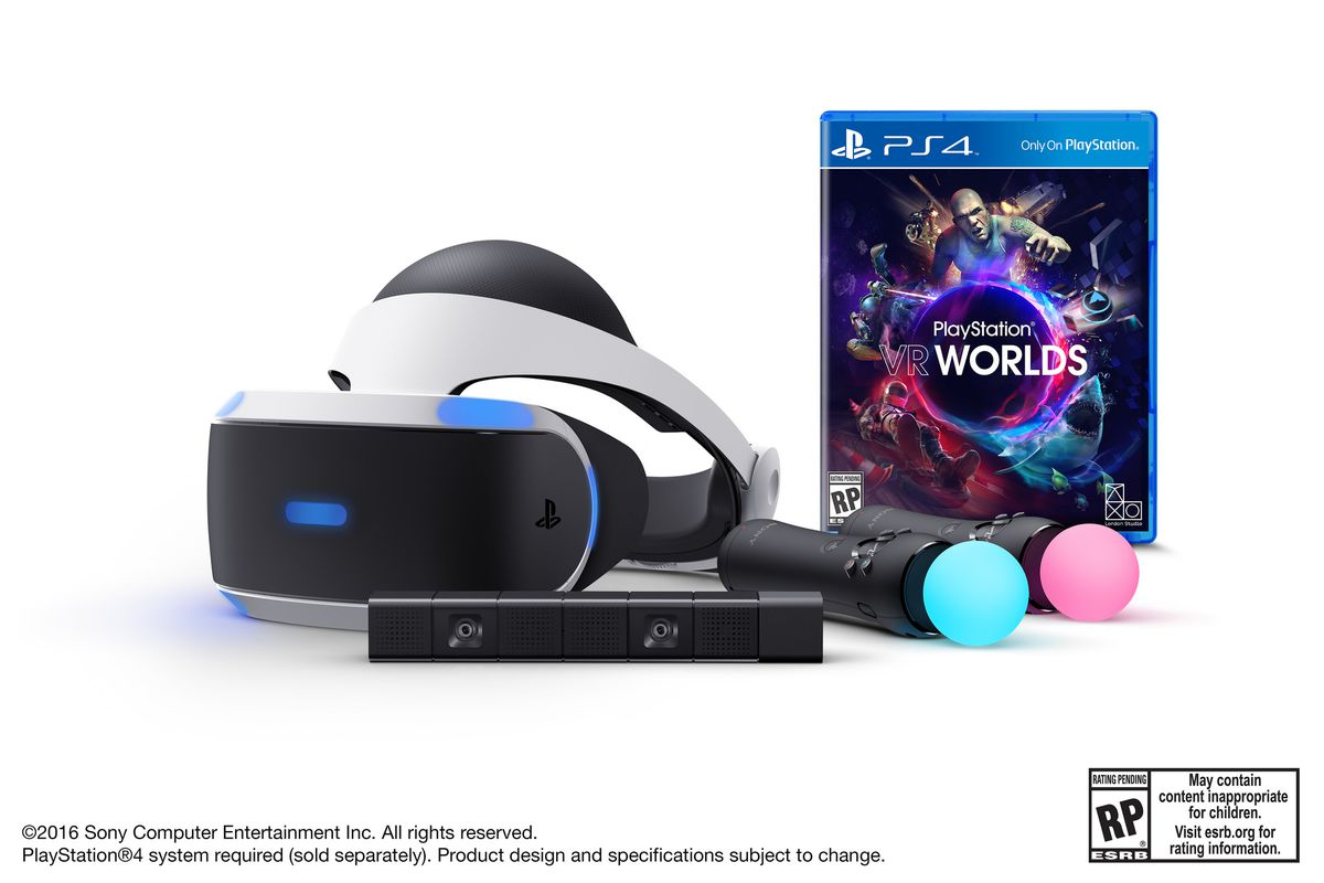 Sony S Playstation Vr Bundle Is 499 Includes Camera And Move Controllers The Verge