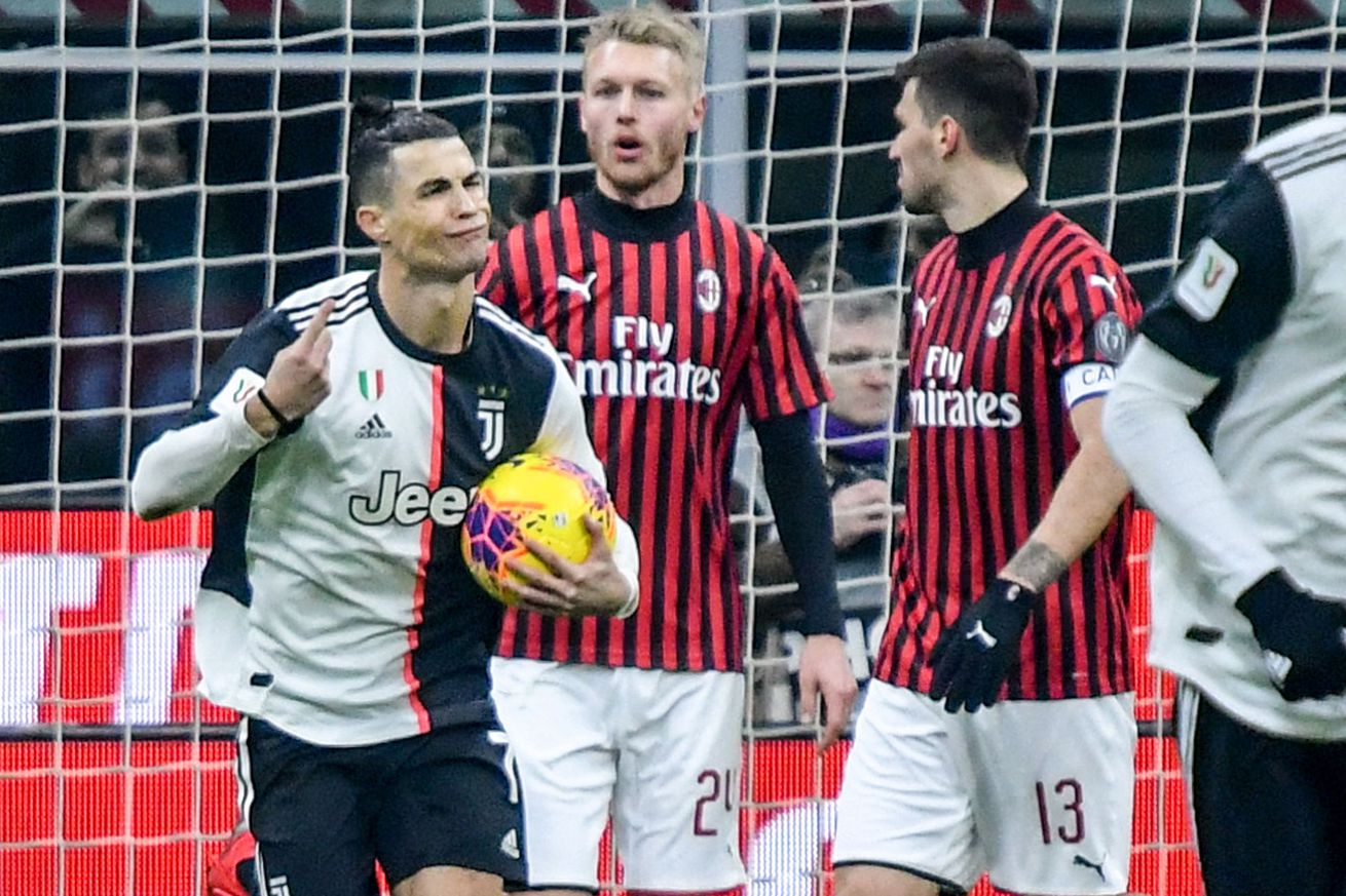 Uninspired Juve rescued by VAR in first leg of Coppa semis