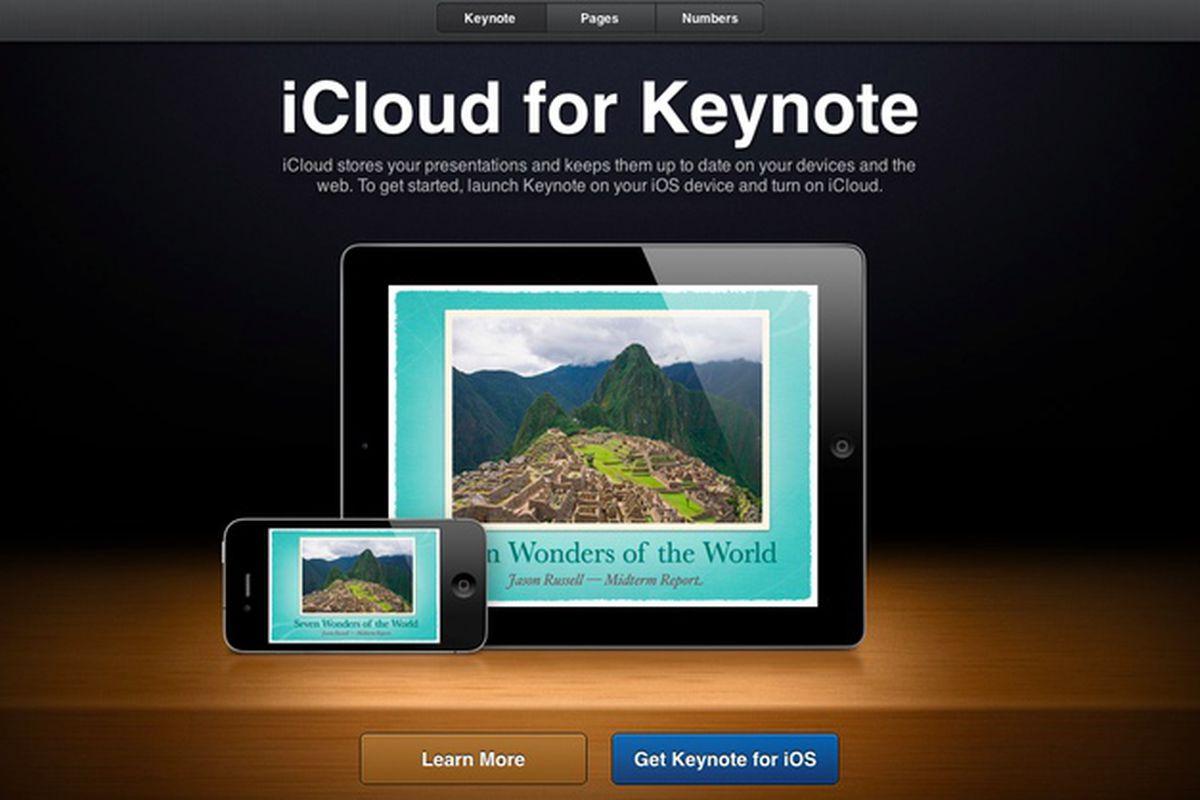 pages iwork keynote