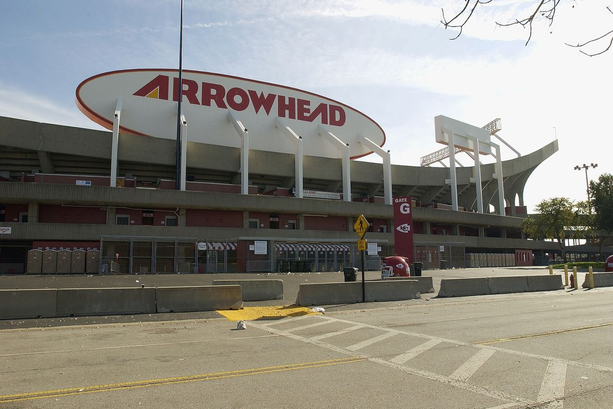 General exterior view of Arrowhead Stadium