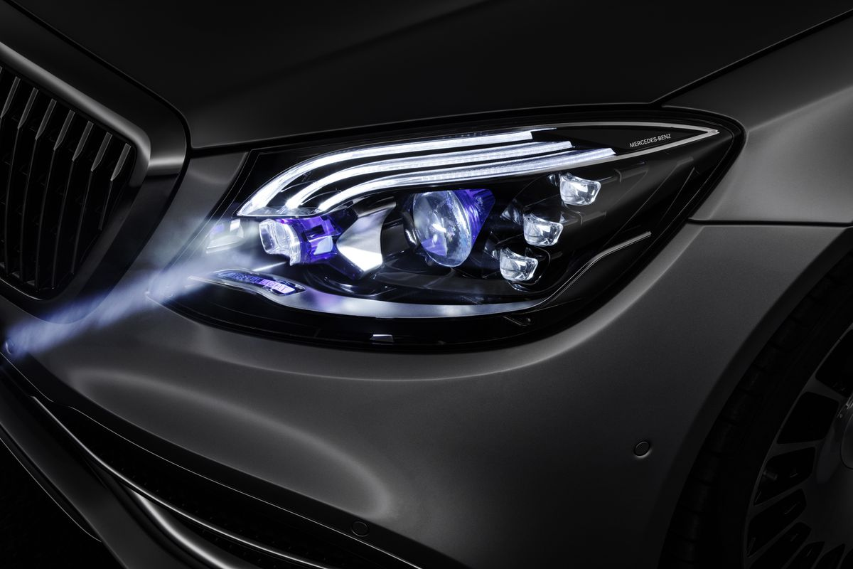 mercedes is adding smart headlights to its maybach the verge